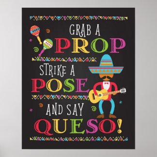 Fiesta-Party-Foto-Stütze-Stand-Plakat Poster