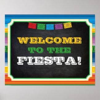 Fiesta-Party-Zeichen, willkommenes Zeichen, Poster