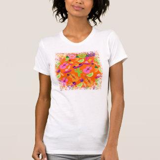 Fiesta-Partysombrero-Kaktus kalkt Paprikaschoten T-Shirt