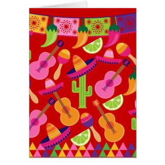 Fiesta-PartySombrero kalkt Gitarre Maraca Saguaro Karte