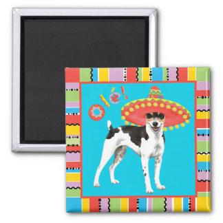 Fiesta-Ratte Terrier Quadratischer Magnet
