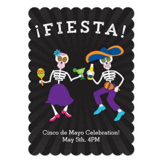 Fiesta-Schädel-Party Einladung