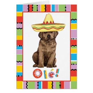 Fiesta-Schokoladen-Labrador Karte
