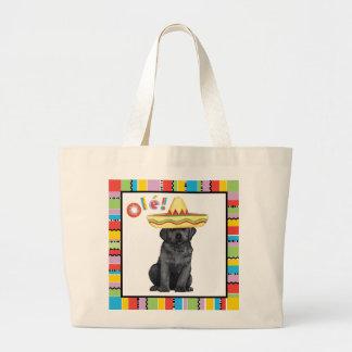 Fiesta-schwarzer Labrador Jumbo Stoffbeutel