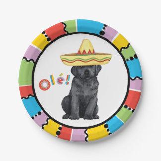 Fiesta-schwarzer Labrador Pappteller