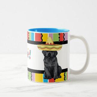 Fiesta-schwarzer Labrador Zweifarbige Tasse