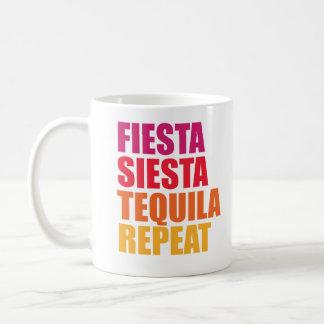 Fiesta, Siesta, Tequila Bachelorette Ferien Kaffeetasse