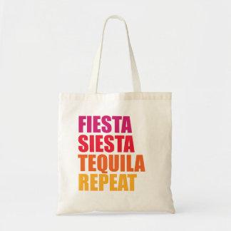 Fiesta, Siesta, Tequila Bachelorette Ferien Tragetasche