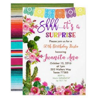 Fiesta-Überraschungs-Geburtstags-Party Einladung