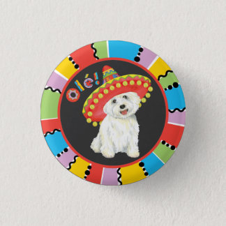Fiesta Westie Runder Button 3,2 Cm