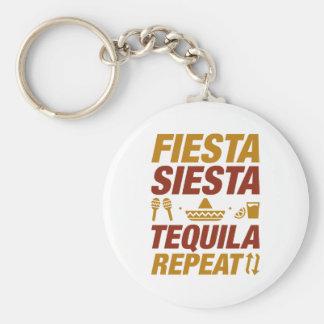 FiestaSiestatequila-Wiederholung Schlüsselanhänger