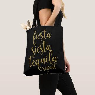 FiestaSiestatequila-Wiederholungs-Glitzer Tasche
