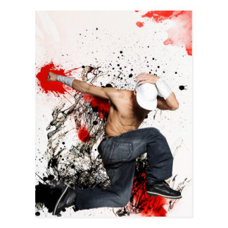 Fighter Hip hop dancer Postkarte