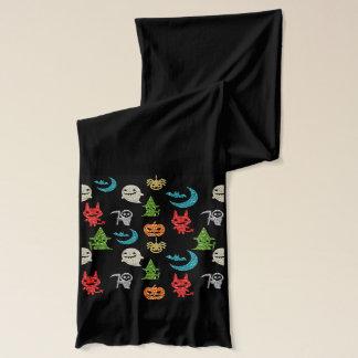 Figur-Glitzer-Collage Halloweens gespenstische Schal