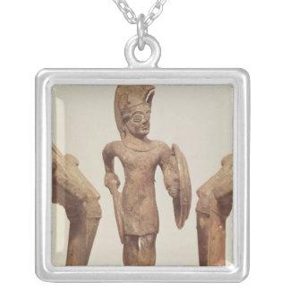 Figürchen eines Kriegers, c.490 BC Versilberte Kette
