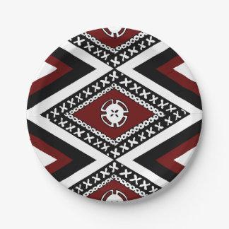 Fijian-Mach-/Fahrtenmesser Zickzack Platte Pappteller