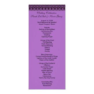 Filagree-Hochzeits-Programm 10,2 X 23,5 Cm Einladungskarte