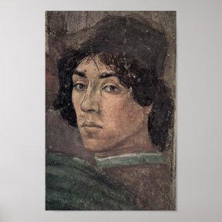 Filippino Lippi - Selbstporträt des Künstlers Poster