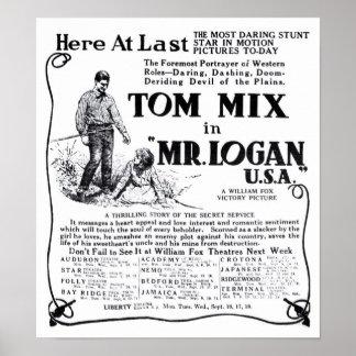 Film-Anzeigenplakat Tom-Mischung 1918 Vintages Poster