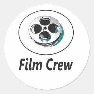 Film-Crew Runder Aufkleber