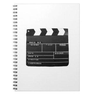 Film-Filmvideoproduktion Scharnierventilbrett Spiral Notizblock