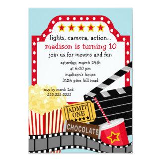 Film-Geburtstags-Party Einladung