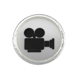 FILM-KAMERA (SCHWARZES GRAFIKDESIGN) RING