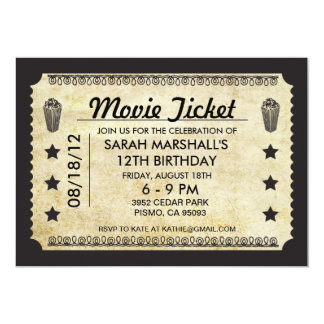 Film-Karte 12,7 X 17,8 Cm Einladungskarte