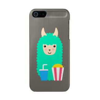 Film-lederfarbenes Lama Emoji Incipio Feather® Shine iPhone 5 Hülle