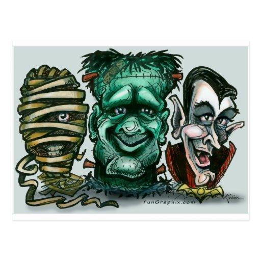 Film-Monster Postkarten