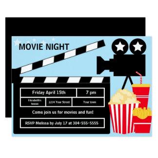 Film-Nachtgeburtstag 12,7 X 17,8 Cm Einladungskarte