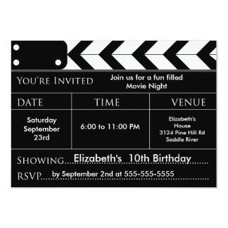 FILM-NACHTgeburtstags-Party Einladung