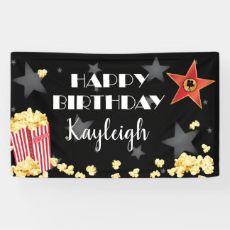 Film-Popcorn-Fahne Banner