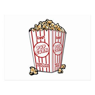 Film-Popcorn Postkarte