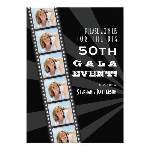 Film-Premiere-Berühmten50. Geburtstags-FotoGala Individuelle Einladungskarten
