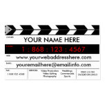 Film-Produktions-Film-Schiefer-Visitenkarte Visitenkarten