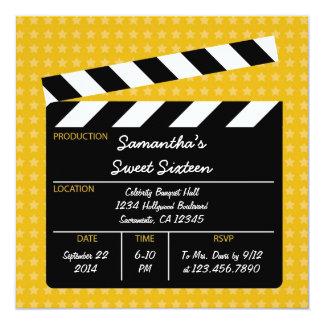 Film-Schindel-16. Geburtstag-Geburtstags-Einladung Quadratische 13,3 Cm Einladungskarte