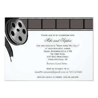 Film-Spule in der Schwarzweiss-Party Einladung