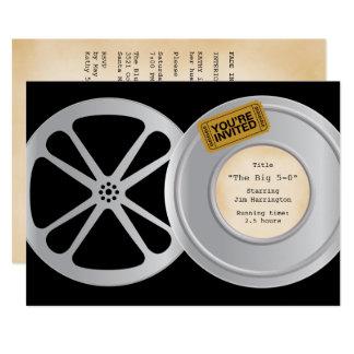 Film-Spulen-Film-Thema-Geburtstags-Party Einladung