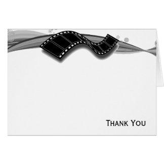 Film-Streifen auf Schwarzweiss-Band Mitteilungskarte