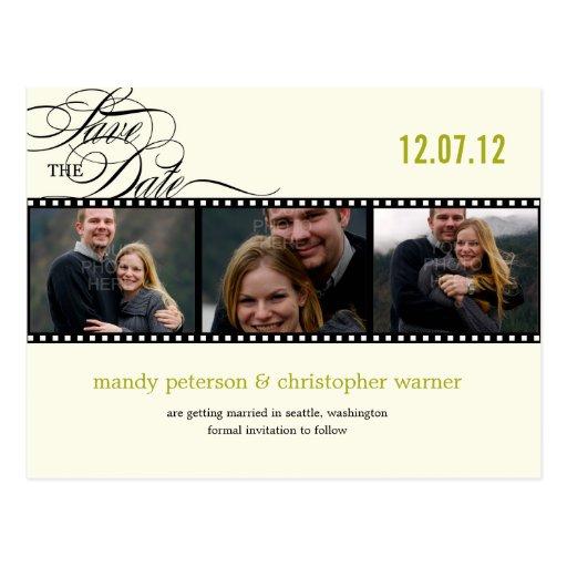 Film-Streifen-Foto Save the Date Postkarten
