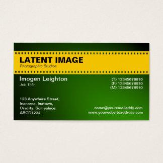 Film-Streifen-Titel-- bernsteinfarbiges und Visitenkarte