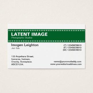 Film-Streifen-Titel - Forest Green und Weiß Visitenkarte