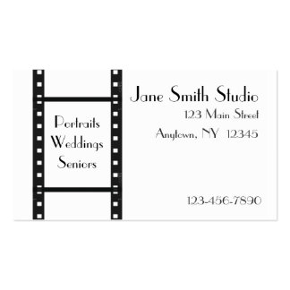 Film-Streifen-Visitenkarte Visitenkarten