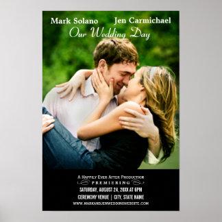 Film-themenorientierter Entwurf des Hochzeits-Einl Poster