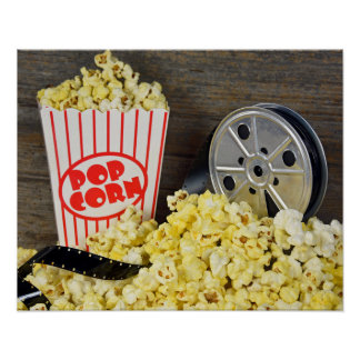 Film und Popcorn Poster
