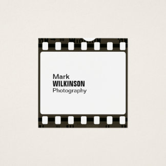 Filmband-Negativrahmen Quadratische Visitenkarte