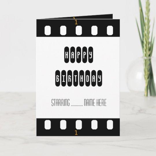 Filmstar-Film-Streifen mit der Geburtstags-Karte Karte   Zazzle