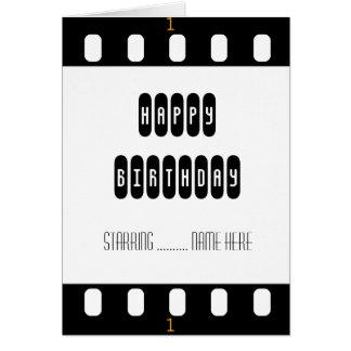 Filmstar-Film-Streifen mit der Geburtstags-Karte Karte