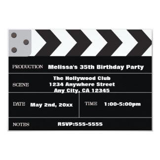 Filmstar Kino Scharnierventilhollywood Einladung Karte